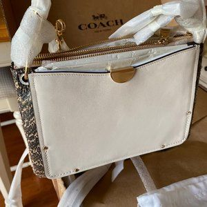 Coach Bags - Coach Dreamer Shoulder Bag with Snakeskin Detail